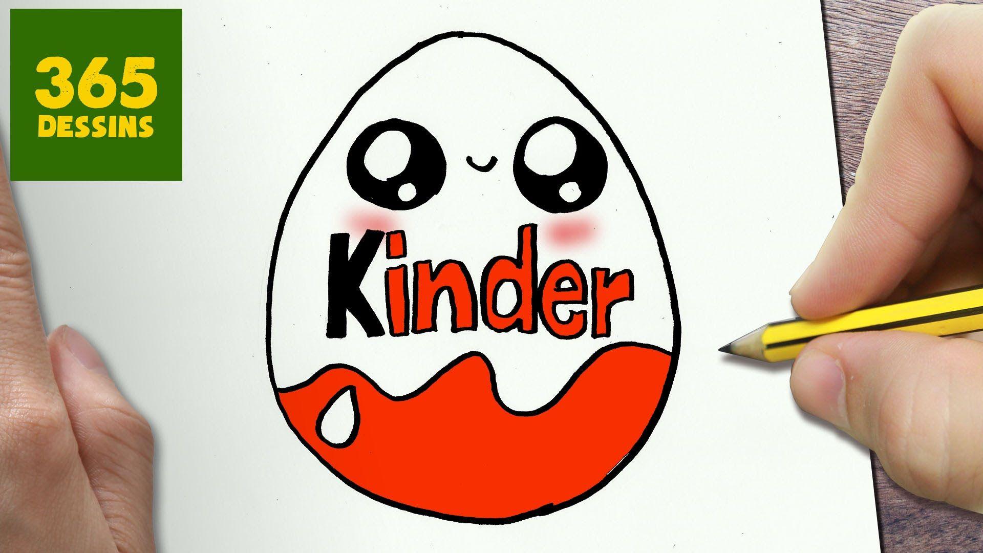 Comment dessiner kinder kawaii tape par tape dessins - Dessin facile a faire pour debutant ...