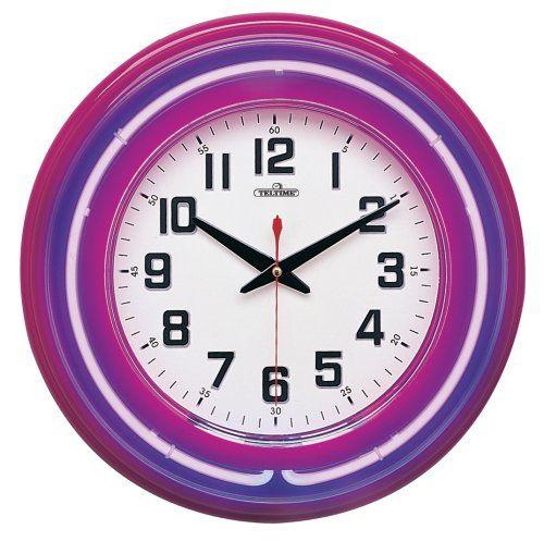Purple Translucent Neon Wall Clock Neon httpwwwamazoncomdp