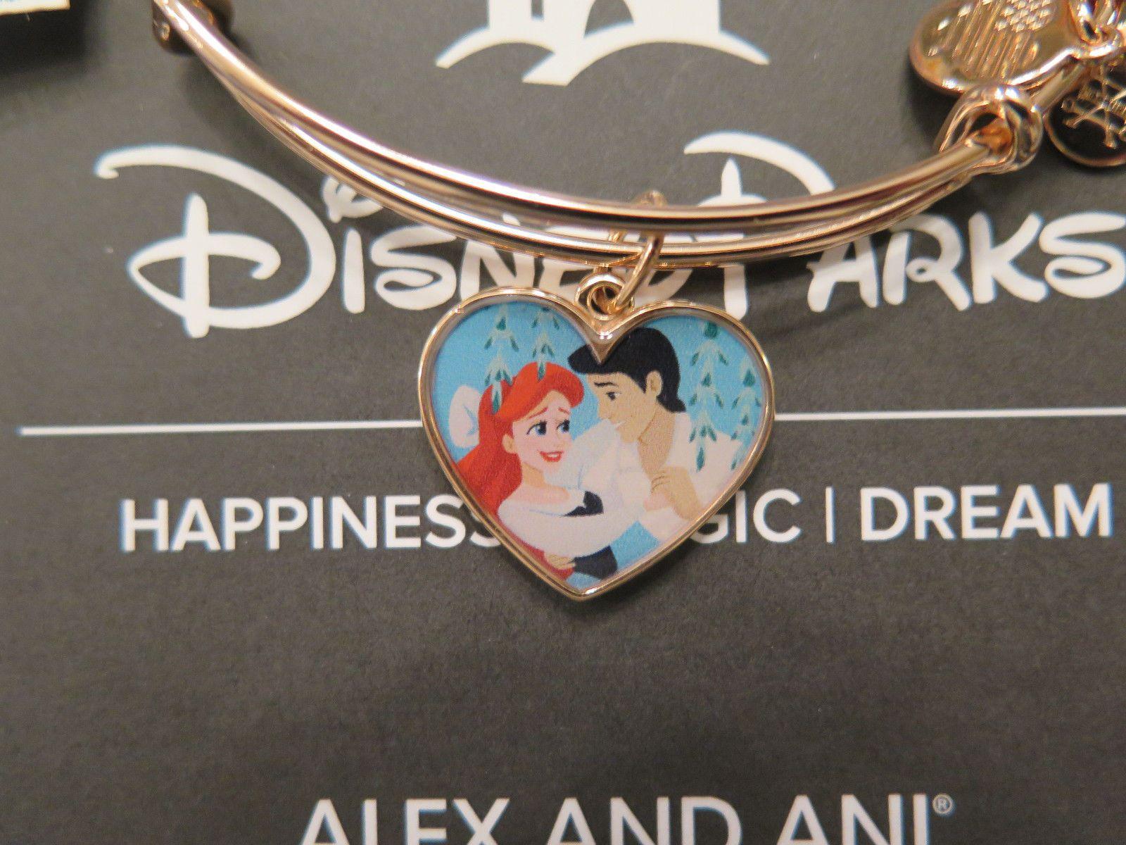 Disney Disney Alex And Ani Ariel Rose Gold Heart Little Mermaid Bracelet Eric Couple Please Retweet