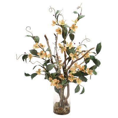 Distinctive designs waterlook silk dogwood with branches in tall distinctive designs waterlook silk dogwood with branches in tall cylinder vase mightylinksfo