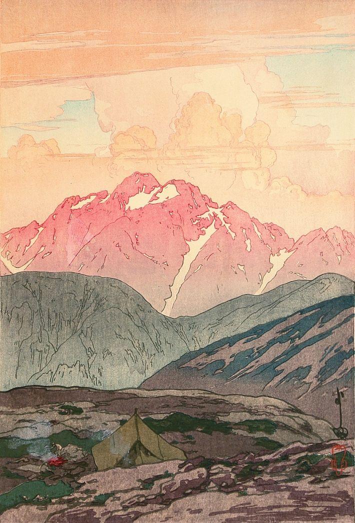 """insipit: """" Hiroshi Yoshida (吉田博) (1876–1950, Japan) Mountains Hiroshi Yoshida…"""
