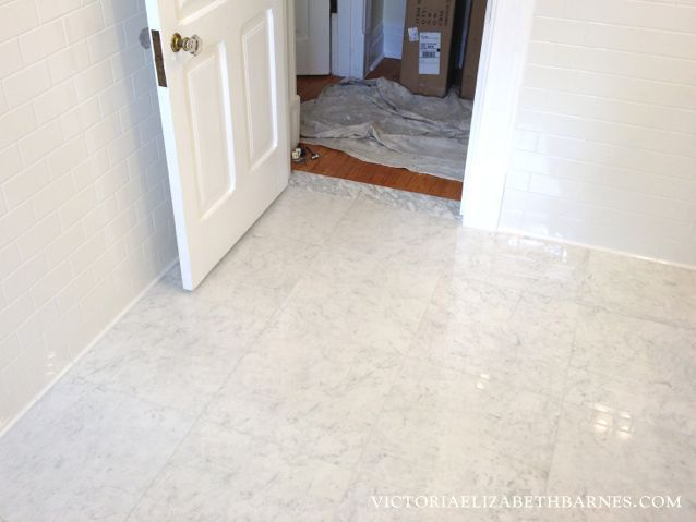 I Love Carrara Marble Floor Tile But Didn T Want The Maintenance Finally Found A Great Porcelain Option