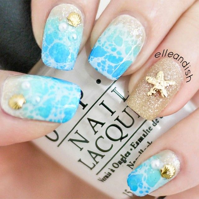 Love these beach nails! From @elleandish :)