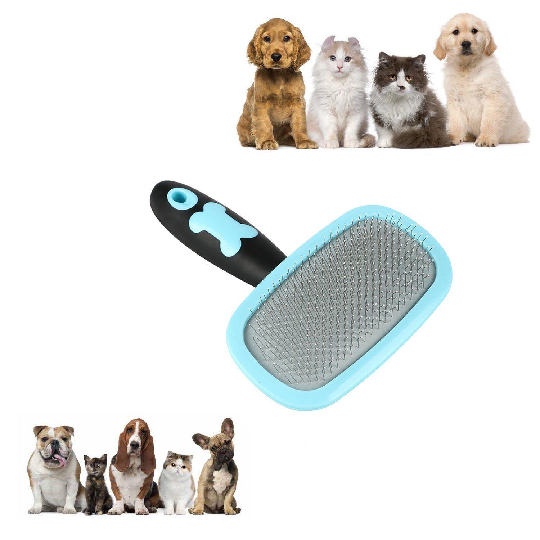 Glendan Dog Brush And Cat Brush Slicker Pet Grooming Brush Shedding Grooming Toolsblue See This Great Product Dog Brushing Cat Grooming Tools Dog Shedding