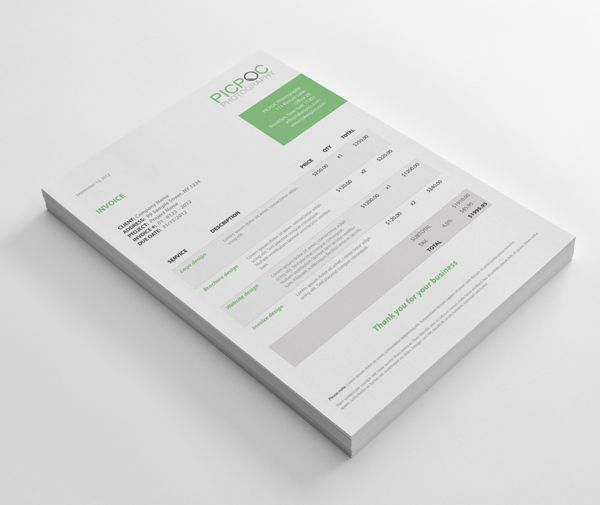 Creative Invoice Template Designs  Behance Moderno E