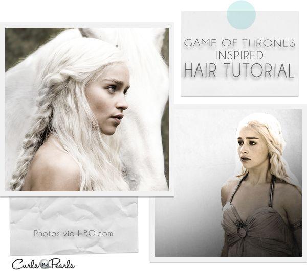 Game of thrones daenerys inspired hair tutorial cosplay for Daenerys targaryen costume tutorial