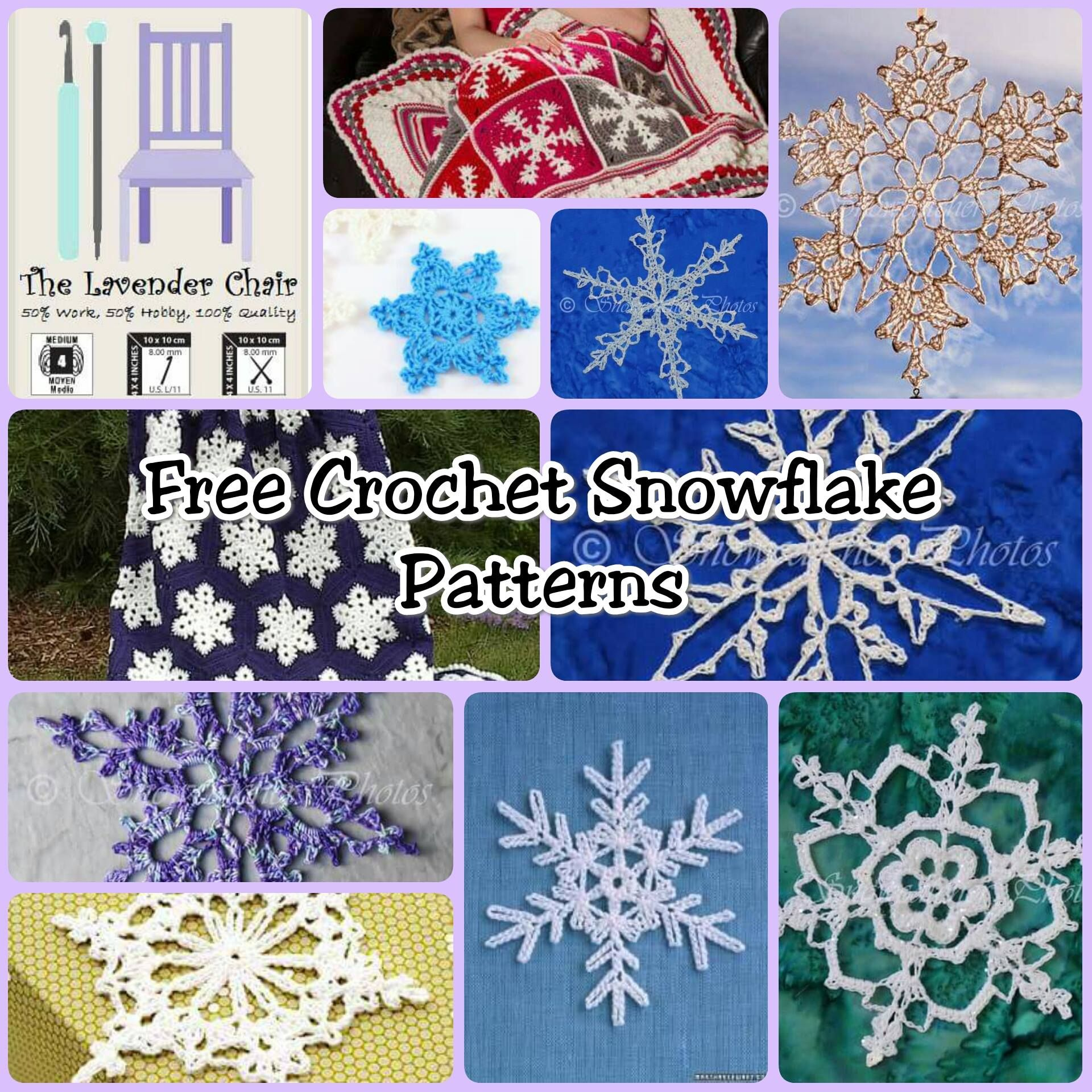 crochet christmas chair covers small massage dainty and free snowflake patterns