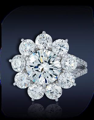 Flower Diamond Solitaire