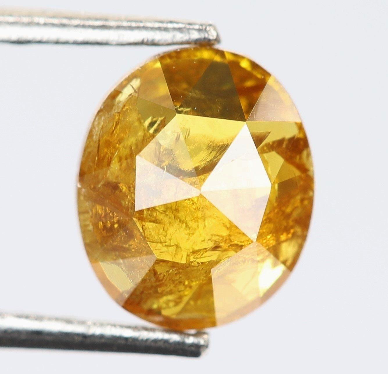 R1201 0.47 Ct Oval Shape Orange Color Natural Loose Beautiful Diamond Fancy Antique Diamond Jewelry 5.7 X 4.8 X 2.0 MM Pave Diamond