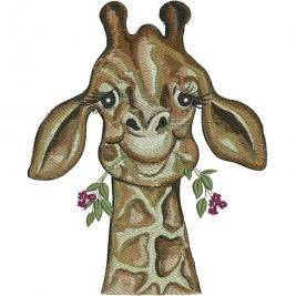 With artwork by Lisa Rasmussen, stitch heart into your home with these giraffes.