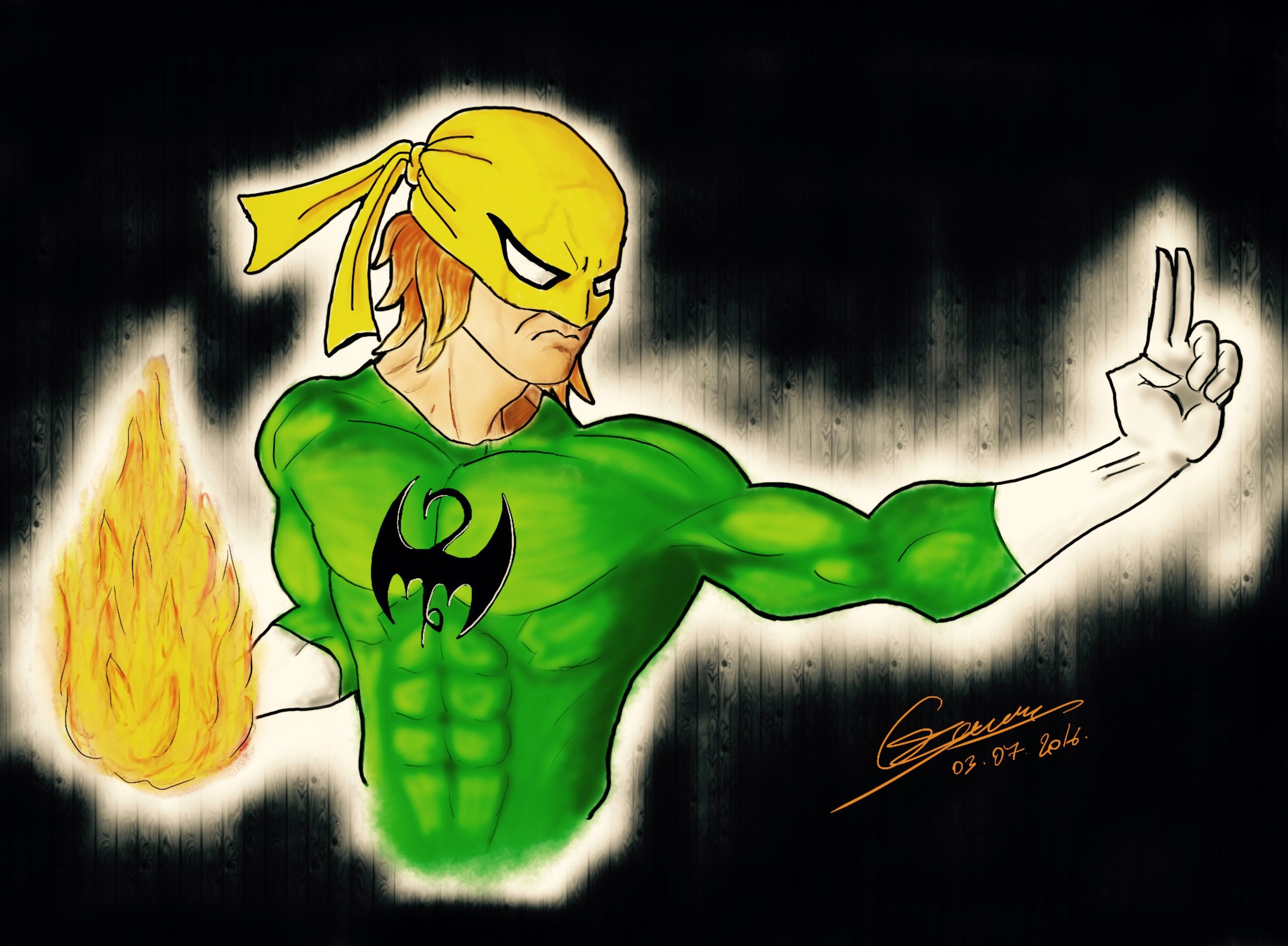 Iron fist (first attempt at digital drawing) with procreate on iPad pro