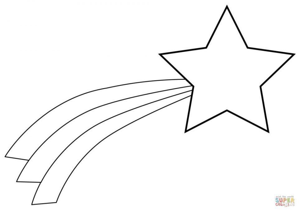 Estrella Fugaz Para Colorear Estrellas Fugaces Estrella Fugaz