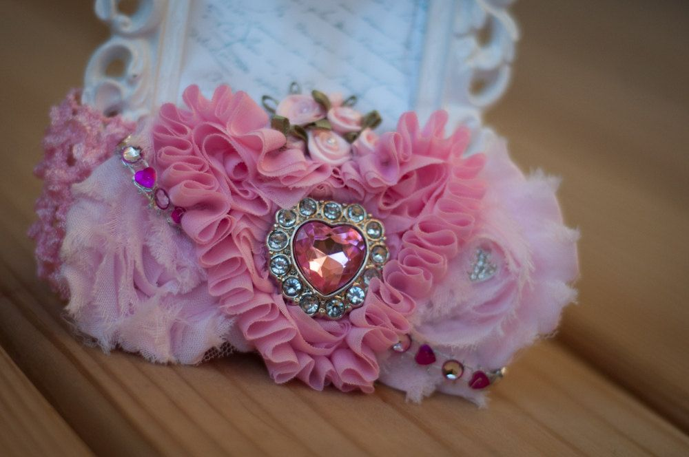 Elegant Girly Pink Sparkly Stretch Headband by JessiNicoleBoutique, $12.00