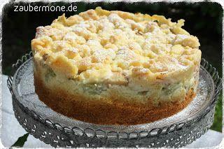 www.zaubermone.de: Rhabarber-Pudding-Streusel-Kuchen