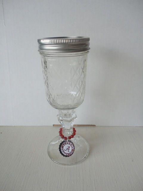 Alabama Crimson Tide wine glass