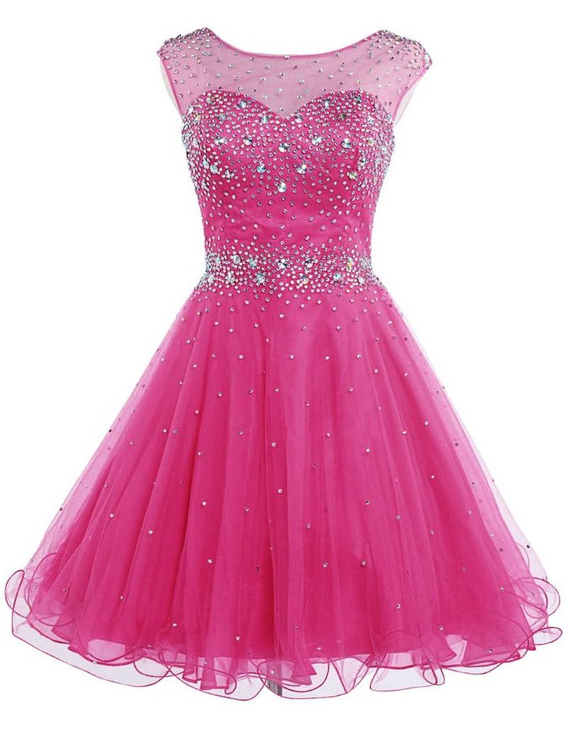 Find more homecoming dresses information about short hot pink