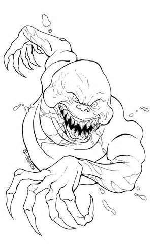 Scary Monster Coloring Pages For Kids Coloring Pages Of Cartoon