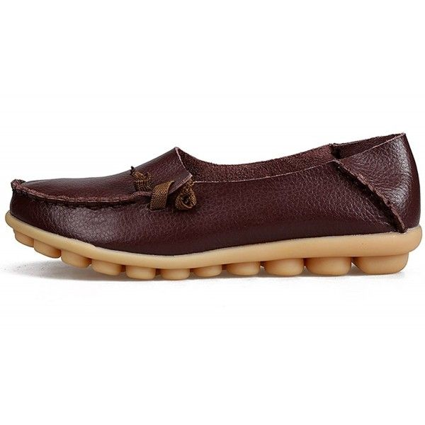 29a47d87 Women's Shoes, Loafers & Slip-Ons, Women's Casual Leather Loafers Driving  Moccasins Flats Shoes - Brown - CC12NA5JC5G #shoes #Loafers #SlipOns  #Fashion ...