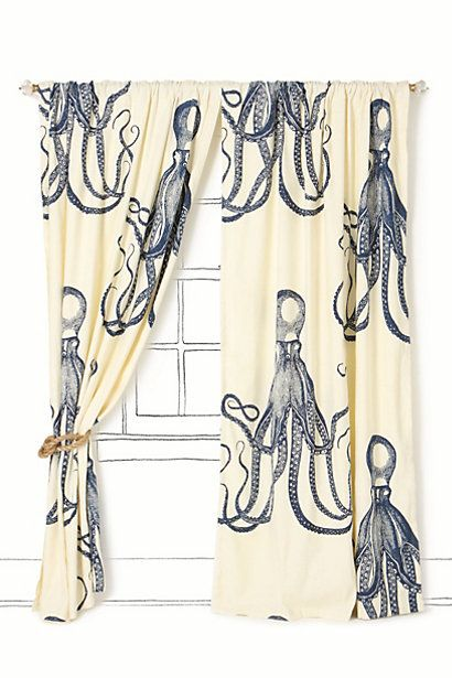 Deep Sea Curtain Anthropologie If I Won The Lottery These Would