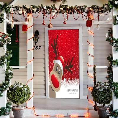 Pin De Claudia Yanneth En Navidad Decoracion Navidena Puerta De Navidad Murales De Navidad