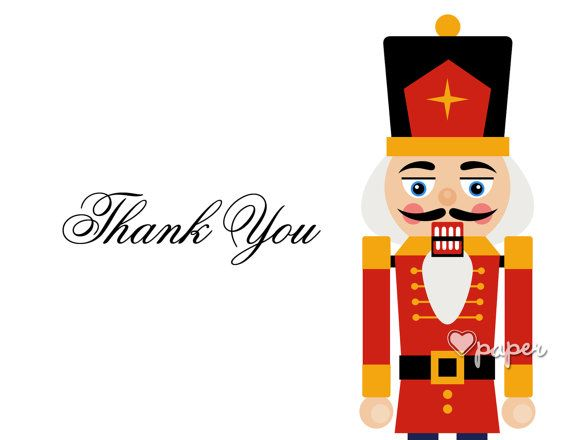 Nutcracker Holiday Soldier  Holiday Christmas Thank You Cards