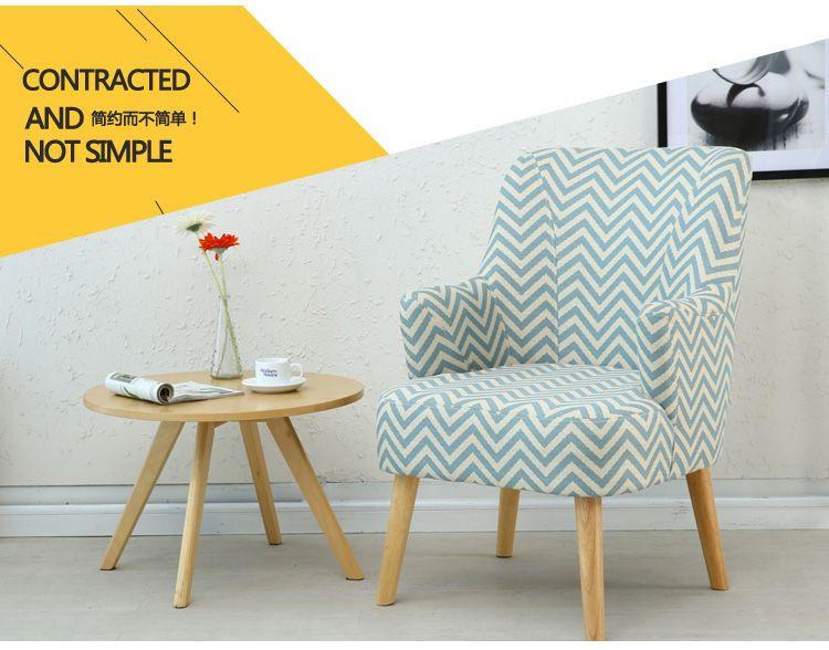 Nordic Ikea Cafe Simple Modern Leisure Fabric Sofa Chair Sofa