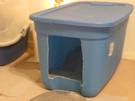 How To Make An Easy Access Litter Box For Old Arthritic Cats With