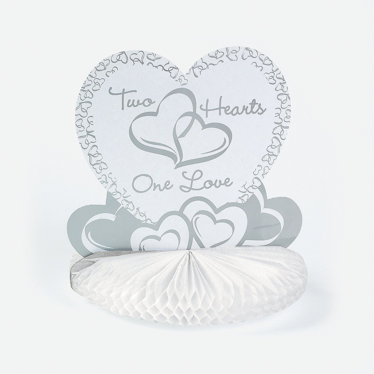 Two Hearts Wedding Centerpiece - OrientalTrading.com | Wedding Ideas ...