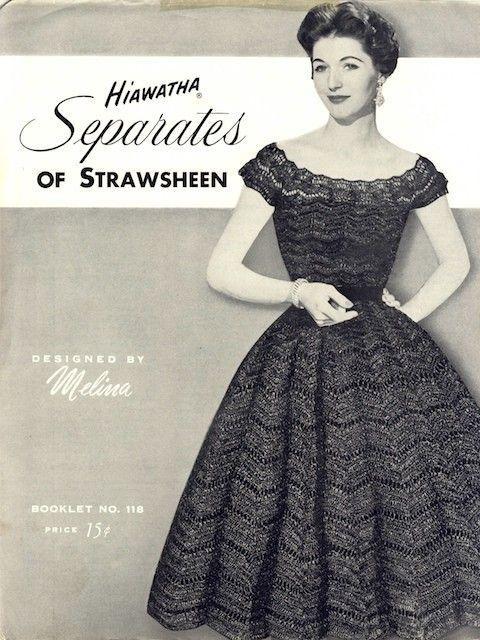 Vintage Crochet Pattern Hiawatha Skirt And By