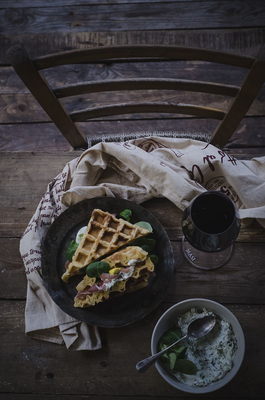 Paprika Waffles Sandwich by @fotogrammi
