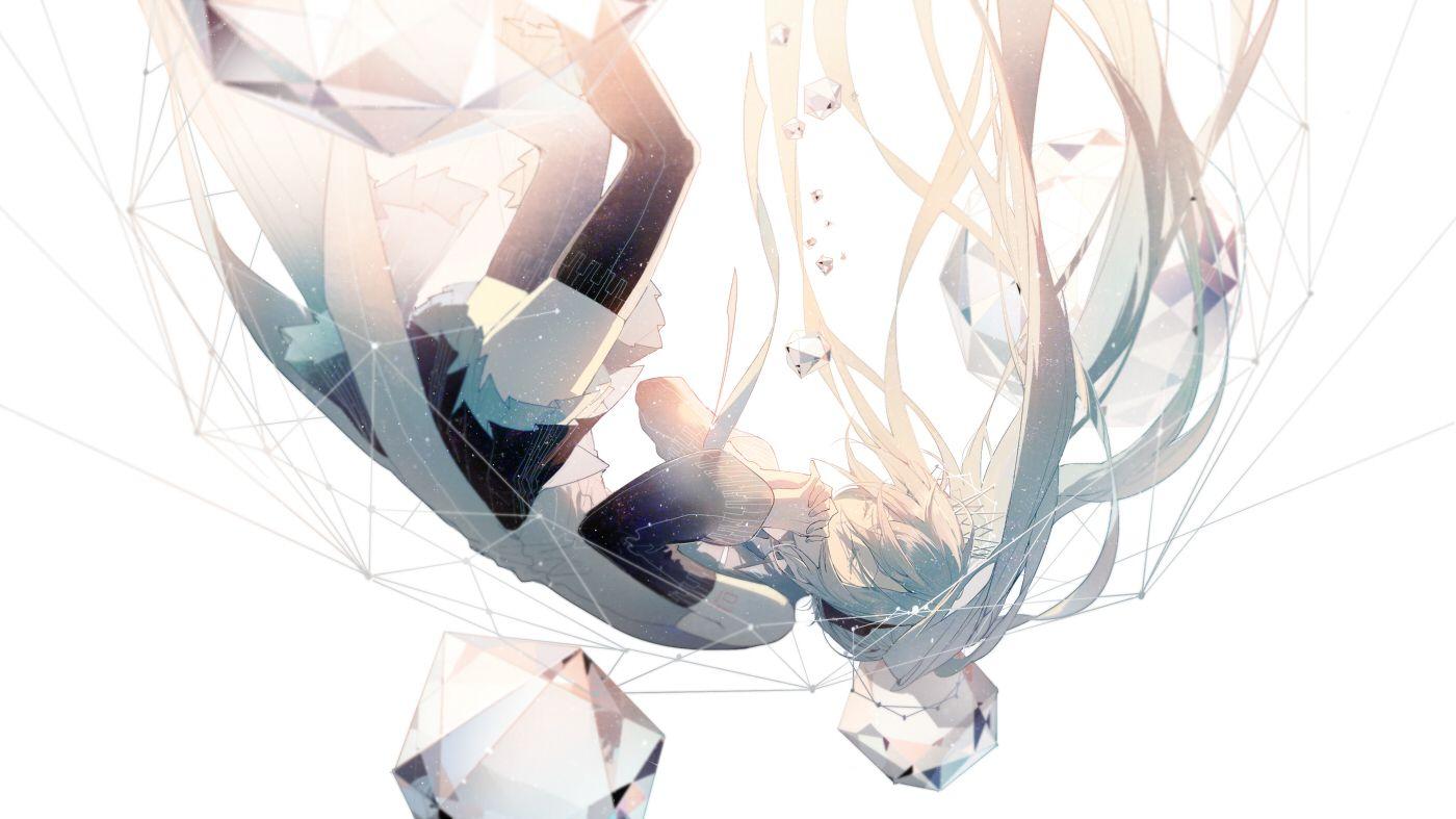 Wallpaper Engine Girl Falling Music Tomorrow Art Hatsune Miku Anime Art Vocaloid