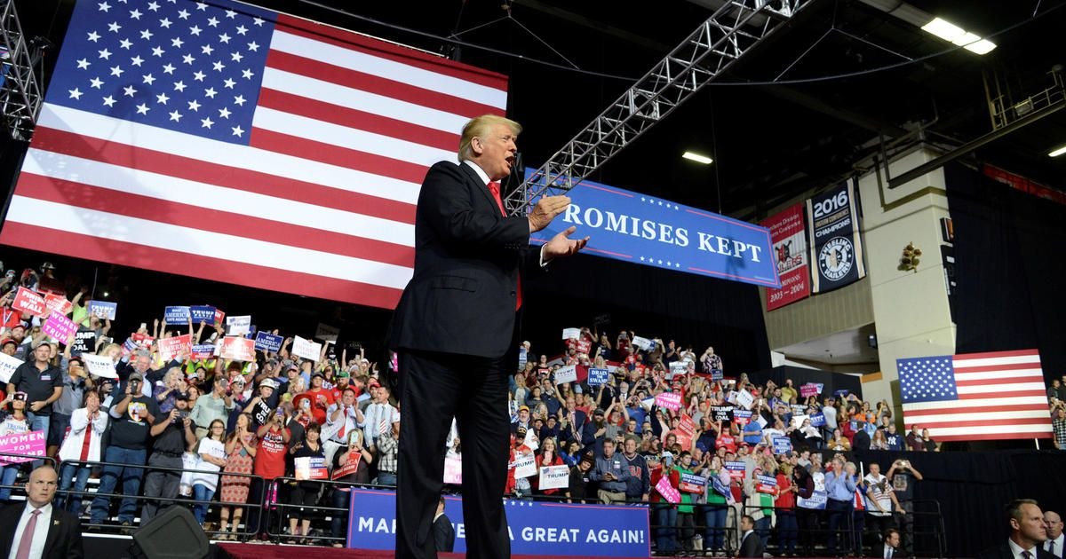 Trump rallies in West Virginia the day after calling for