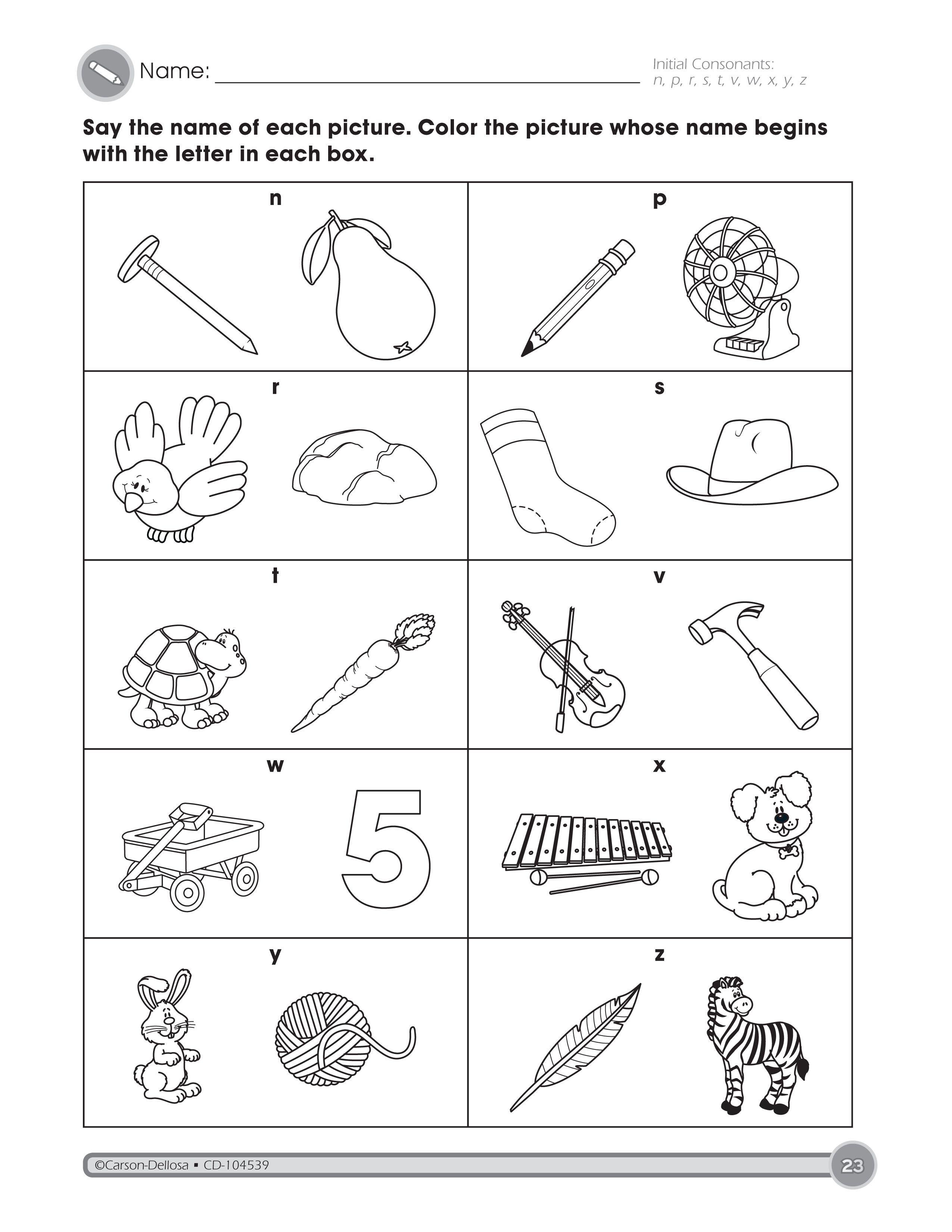 The Initial Consonants Activity Part 3 Helps Students Identify Consonant S Kindergarten Worksheets Free Kindergarten Worksheets Literacy Centers Kindergarten [ 3300 x 2550 Pixel ]