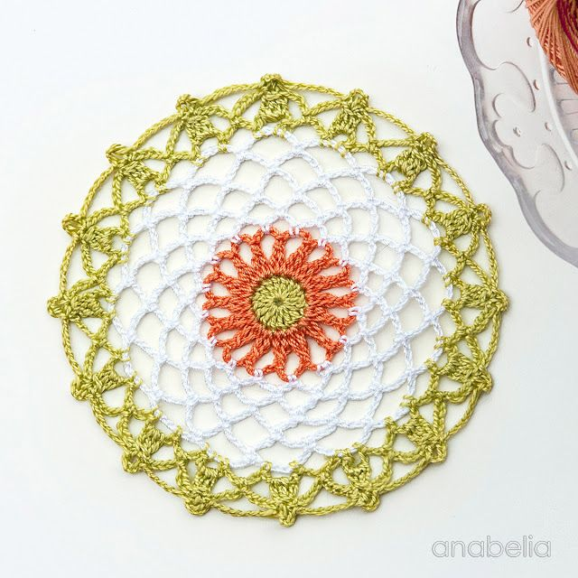 Mini crochet doilies free pattern, Anabelia Craft Design | manteles ...