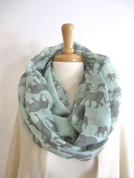 Amazing scarf with elephant images [ HGNJShoppingMall.com ...