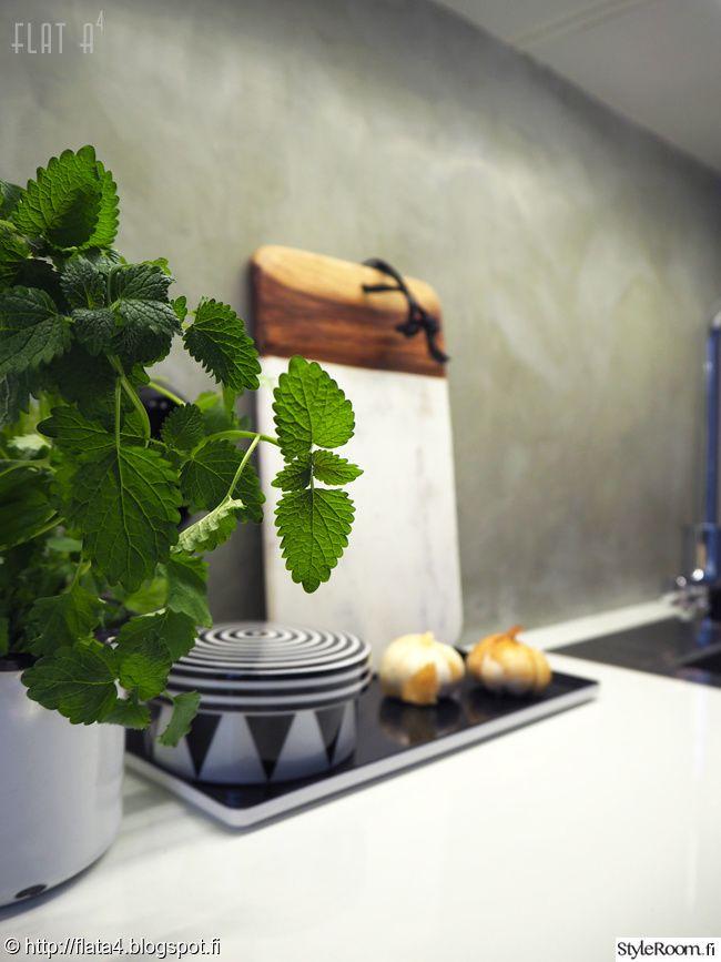 Keittion Mini Makeover Sisustuskuvia Jasenelta Flata4 Styleroom Microcement Concrete Kitchen Kitchen Queen