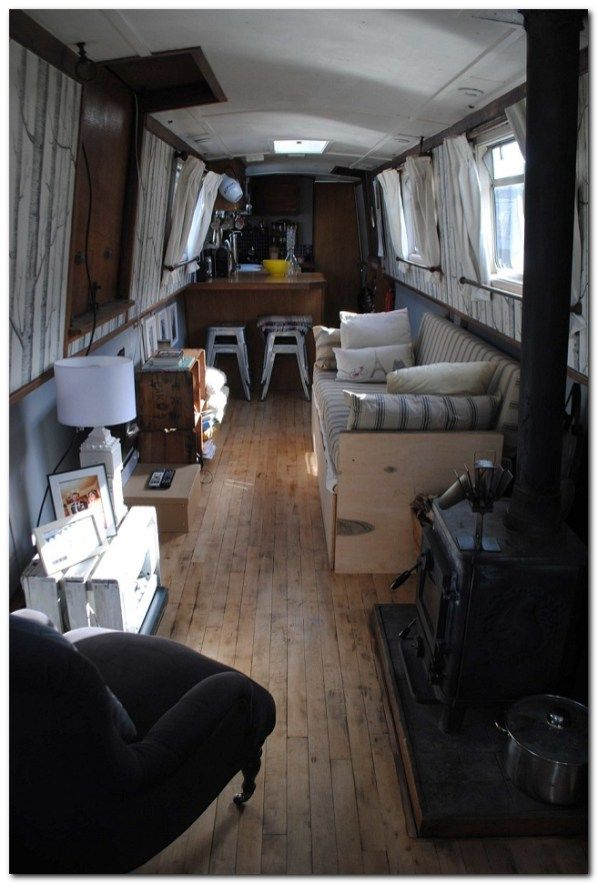 Cheap Houseboat Interior Ideas | Boating, Small space design and ...