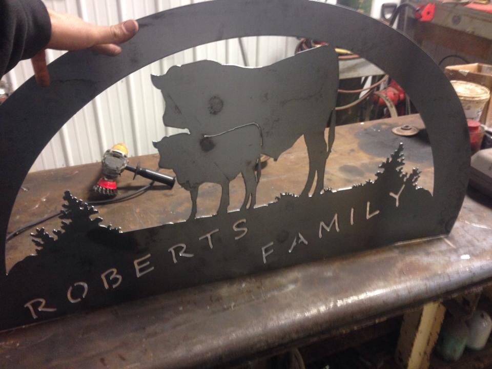 Roberts family farm sign   Custom made to your last name