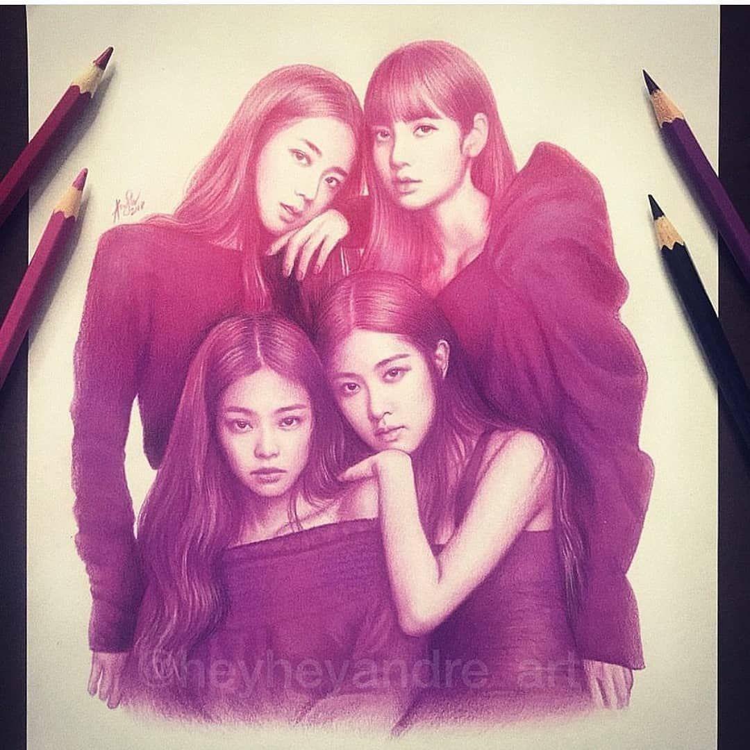 Antastic Colored Pencil Drawing Of The Beautiful Blackpink Members Jenny Kim Jennierubyjane Lalisa Manoban Lalalalisa M Park Di 2020 Ilustrasi Sketsa Lukisan
