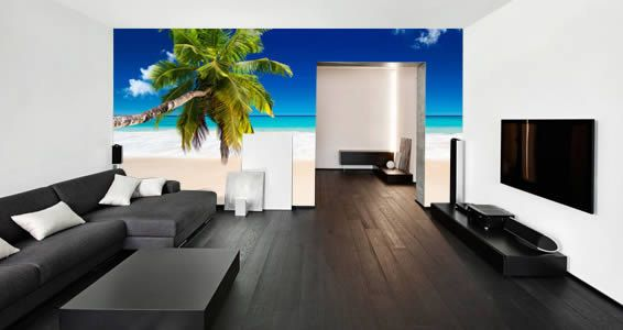 Seychelles Paradise Beach Removable and Reusable Wall Mural