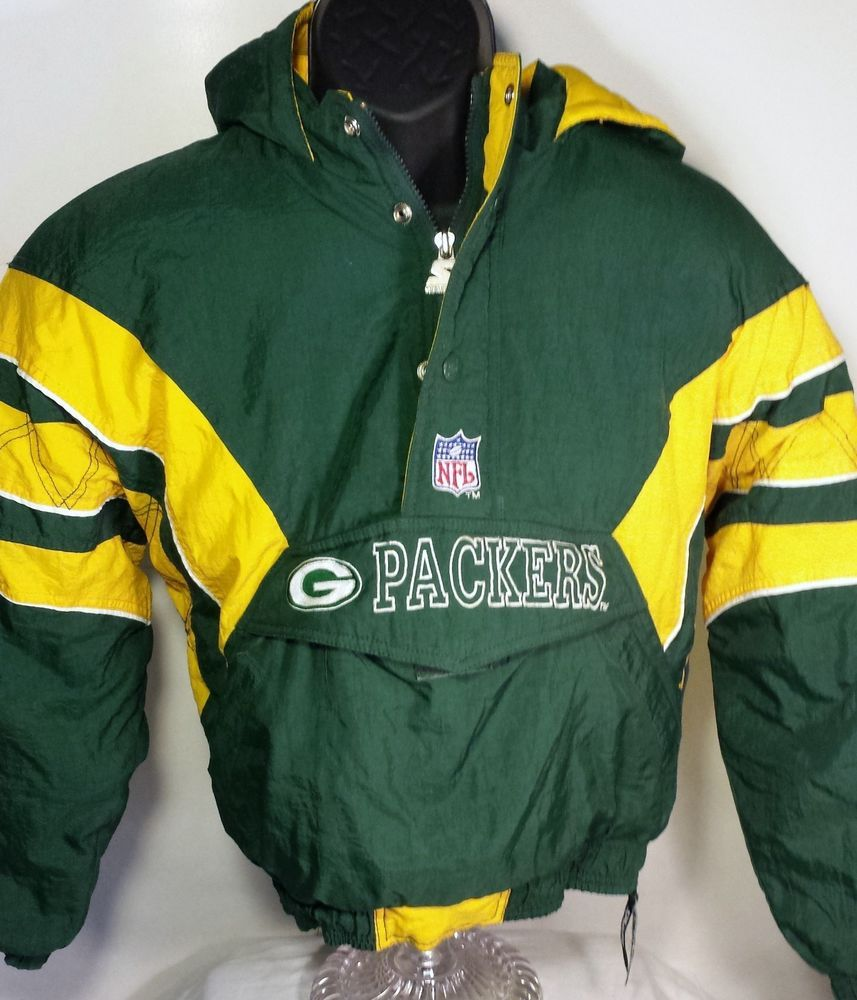 competitive price b6652 755bd Green Bay Packers Youth Size Large Starter Pullover Jacket ...