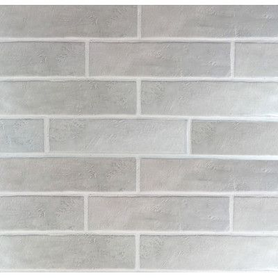 Loft Ceramic Subway Tile In Gray Grey Brick Side Wall