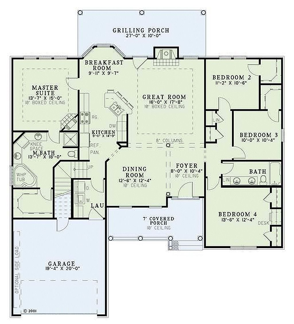 European Style House Plan 4 Beds 2 Baths 1965 Sq Ft Plan 17 1124 Rustic House Plans House Floor Plans Dream House Plans