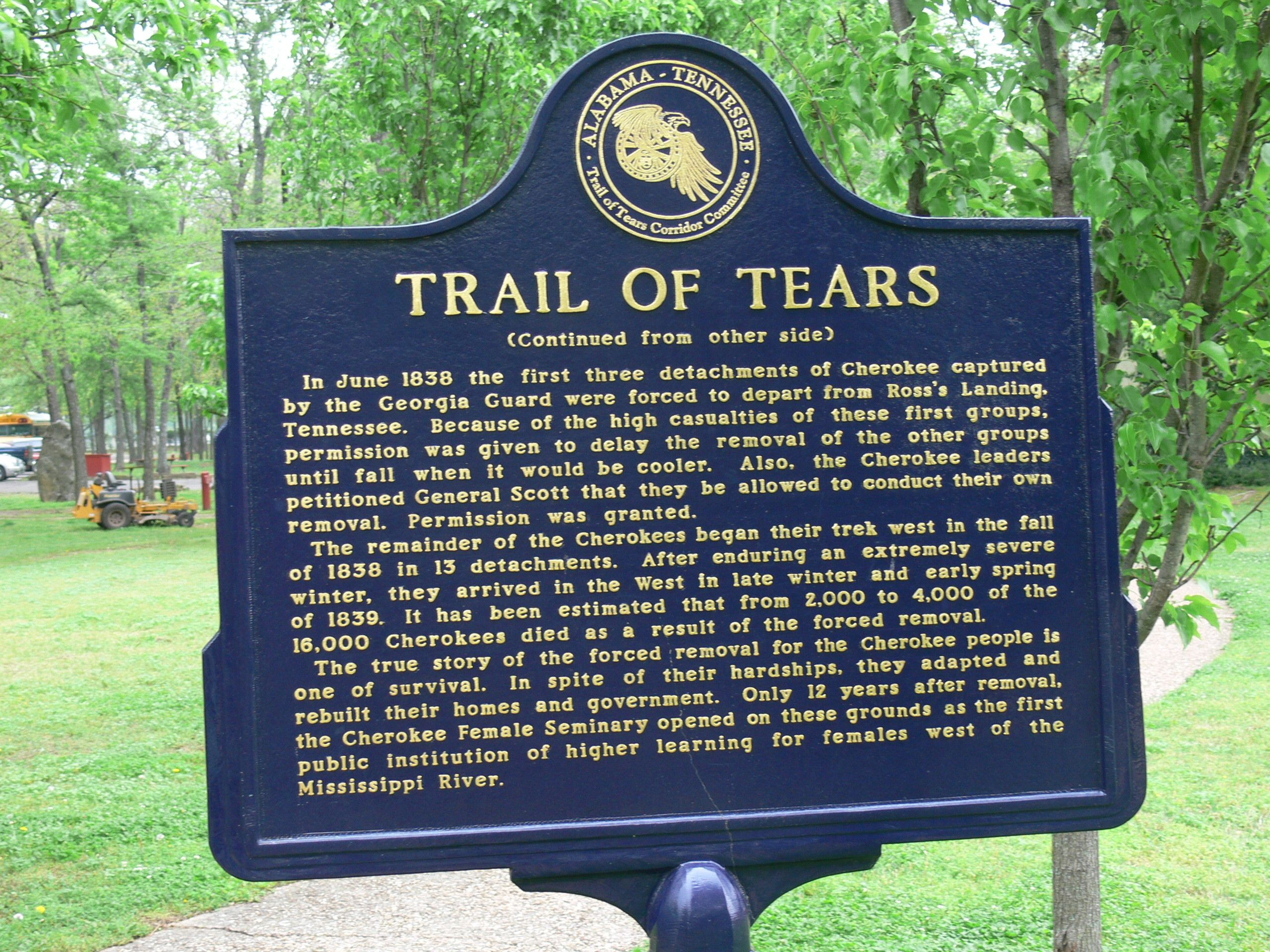 Cherokee Indian Removal Act of 1838 | Indian territory and Native ...