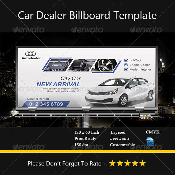 Car Dealer Billboard By Bryan I Template This Designed Using Photo Cs 6 And Purposed For Industry