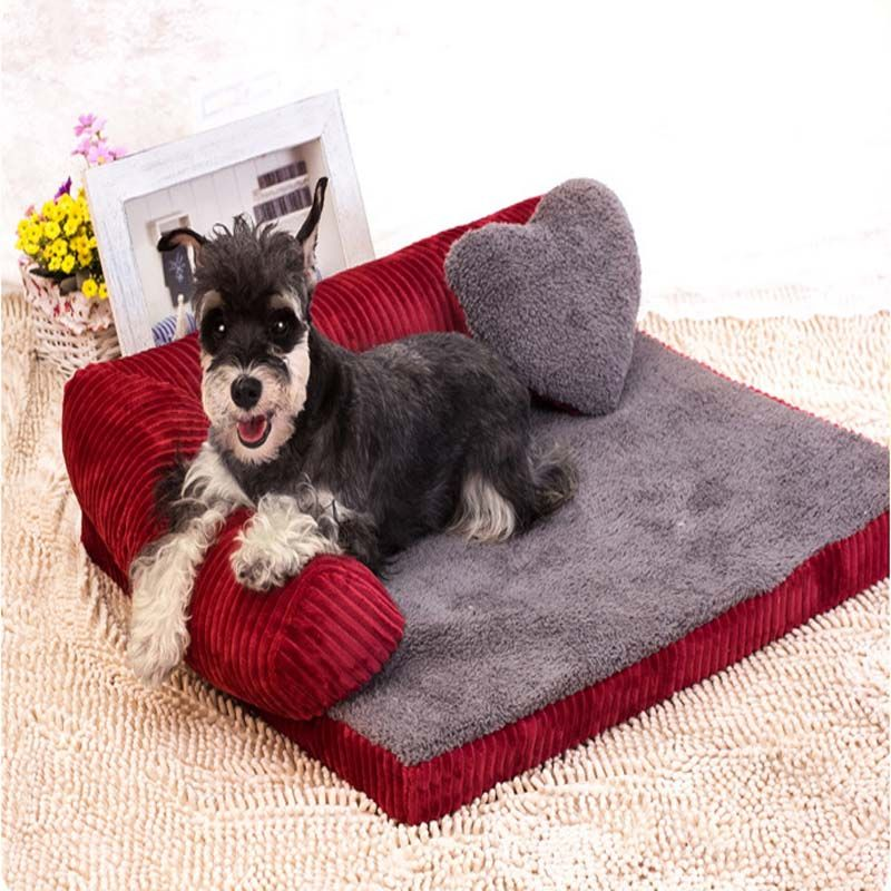 Sofa Backrest Dog Beds For Large Dogs With Pillow Dog