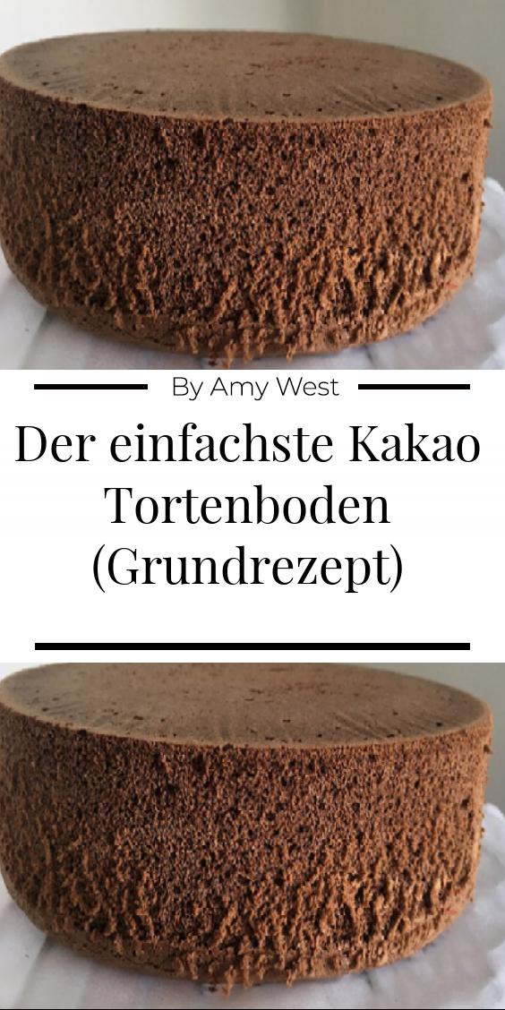 Der einfachste Kakao Tortenboden (Grundrezept) – Ultimatefood