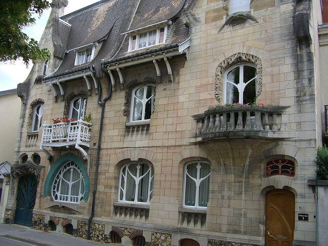 Maisons Huot \u2013 92/92bis quai Claude-Le-Lorrain, Nancy (54 - Exemple De Facade De Maison