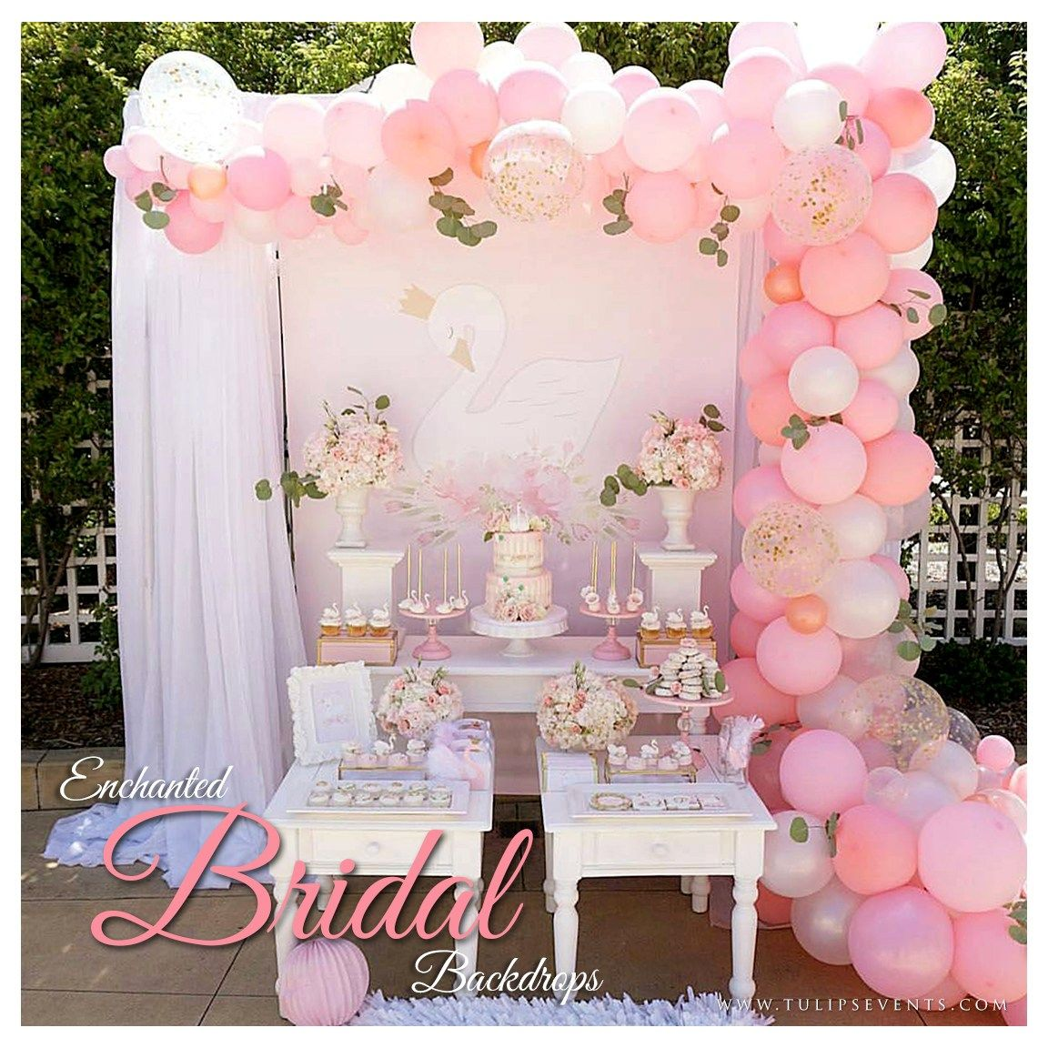 17 Best Bridal Shower Party Themes Decor Ideas In Pakistan Tulips Event Management Bridal Shower Party Theme Bridal Shower Party Swan Baby Shower