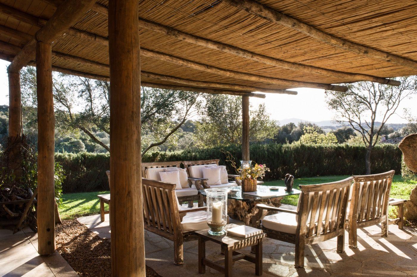 Alfresco with views at Podere La Magnifica, Sardinia